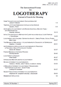 International Forum for Logotherapy 2011 Spring