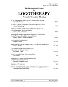 International Forum for Logotherapy 2016 Autumn