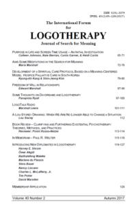 International Forum for Logotherapy 2017 Autumn