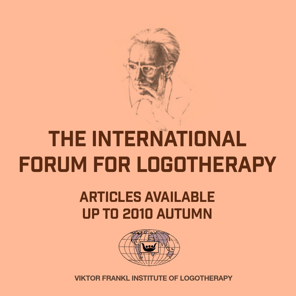 The International Forum for Logotherapy Articles Available up to 2010 Autumn