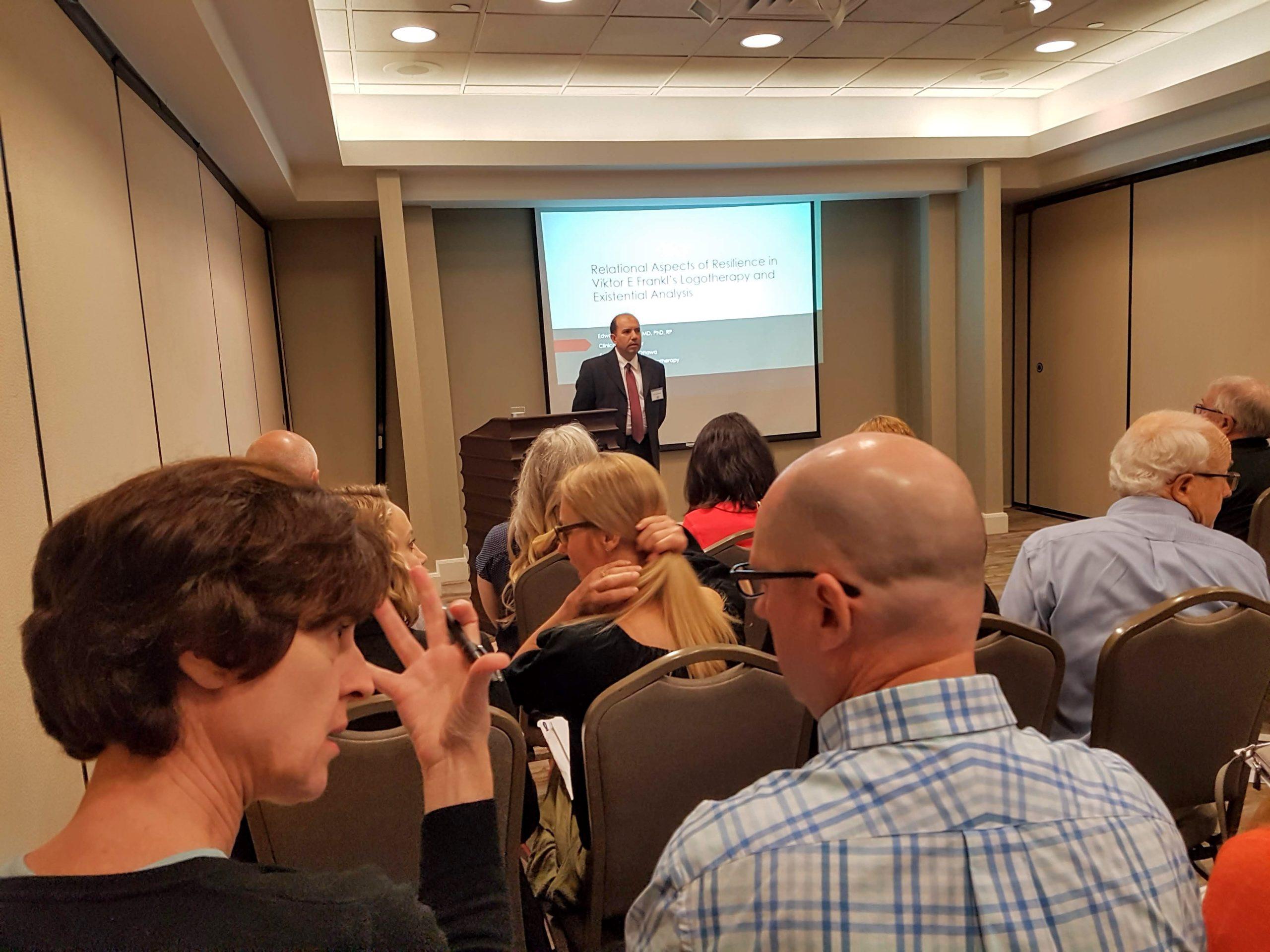 Edward Marshallk 22 Logotherapy World Congress presentation